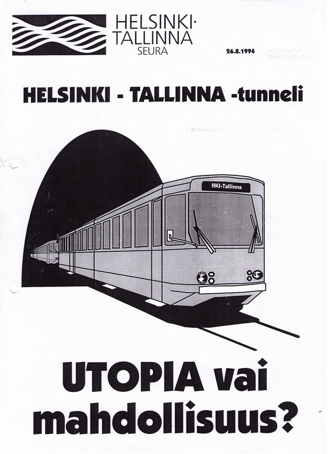 Helsinki-Tallinna tunneli, utopia vai mahdollisuus